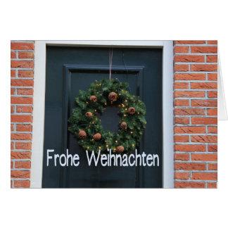 Tarjeta de Navidad alemana de Frohe Weihnachten