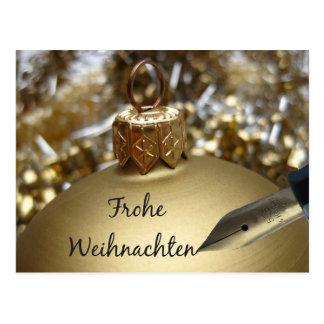 Tarjeta de Navidad alemana de Frohe Weihnachten Postal