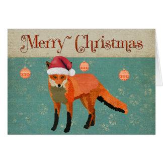 Tarjeta de Navidad ambarina del Fox