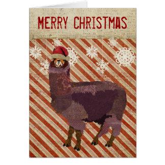 Tarjeta de Navidad Amethyst de la alpaca