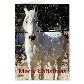 Tarjeta de Navidad árabe del caballo