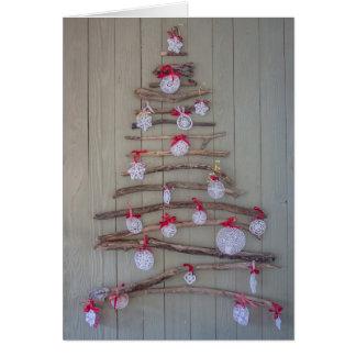 Tarjeta de Navidad, árbol