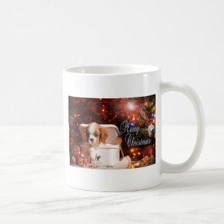 Tarjeta de Navidad arrogante del perrito Taza De Café