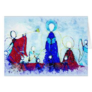 Tarjeta de Navidad artística y moderna de los
