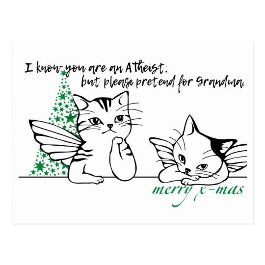 Tarjeta de Navidad atea