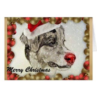 Tarjeta de Navidad australiana del pastor