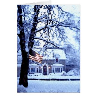 Tarjeta de Navidad blanca