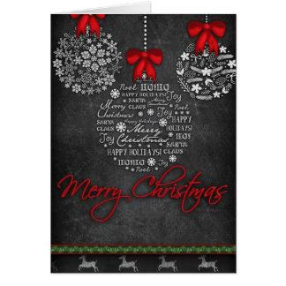 Tarjeta de Navidad blanco y negro bonita de los