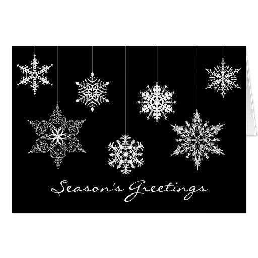 Tarjeta de navidad blanco y negro elegante zazzle - Tarjetas de navidad elegantes ...