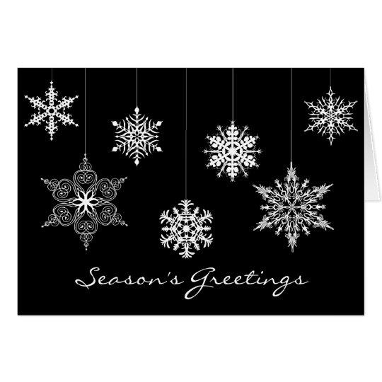 Tarjeta de navidad blanco y negro elegante - Tarjetas de navidad elegantes ...