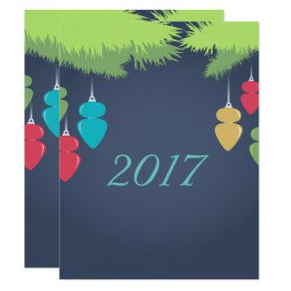 Tarjeta de Navidad brillante Invitación 10,8 X 13,9 Cm