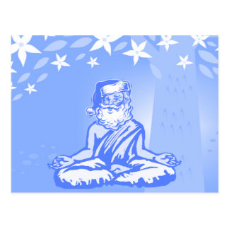 Tarjeta de Navidad budista de Santa