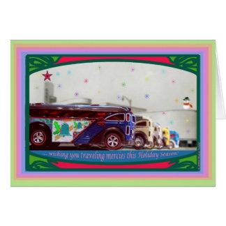 Tarjeta de Navidad caliente del autobús de