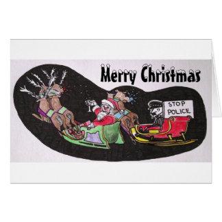 Tarjeta de Navidad chistosa