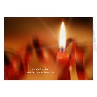 Tarjeta de navidad con candela