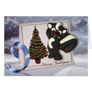 Tarjeta de Navidad con Felices Navidad de la