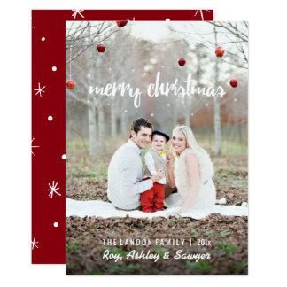 Tarjeta de Navidad con la foto - Felices Navidad