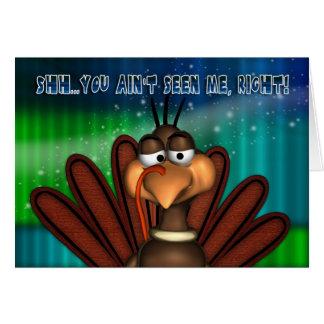 Tarjeta de Navidad con Turquía divertida - tarjeta