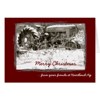 Tarjeta de Navidad corporativa del tractor