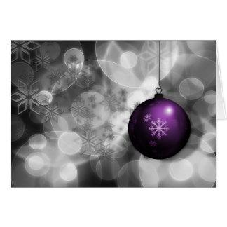 tarjeta de Navidad corporativa púrpura de plata