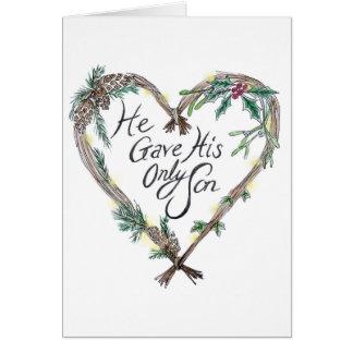 Tarjeta de Navidad cristiana