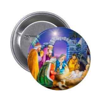 Tarjeta de Navidad cristiana Chapa Redonda 5 Cm