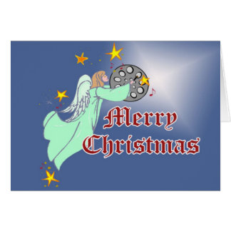 Tarjeta de Navidad de acero de la cacerola