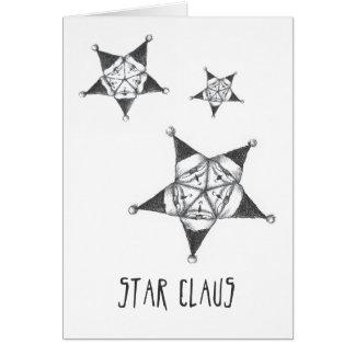 Tarjeta de Navidad de Claus de la estrella