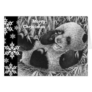Tarjeta de Navidad de Cub de la panda gigante