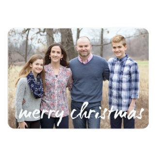 tarjeta de Navidad de encargo de la foto - estilo
