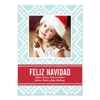 Tarjeta de Navidad de Fotos el | Modelo de Ikat Invitación 12,7 X 17,8 Cm
