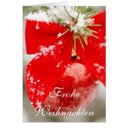 Tarjeta de Navidad de Frohe Weihnachten