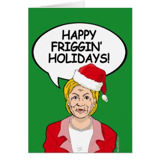 Tarjeta de Navidad de Hillary - días de fiesta