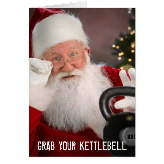 Tarjeta de Navidad de Kettlebell