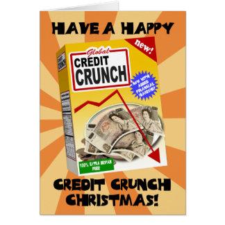 Tarjeta de Navidad de la contracción del crédito