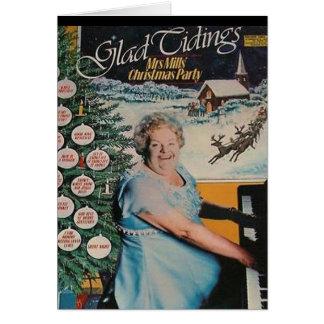Tarjeta de Navidad de la cubierta de disco de