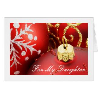 Tarjeta de Navidad de la diva para las hijas