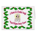 Tarjeta de Navidad de la enfermera