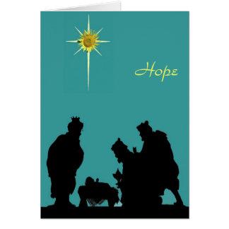 Tarjeta de Navidad de la esperanza de unos de los