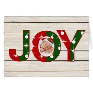 Tarjeta de Navidad de la foto de la alegría
