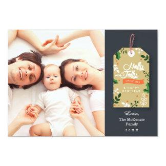 Tarjeta de Navidad de la foto de la etiqueta del Invitación 12,7 X 17,8 Cm