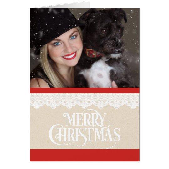 Tarjeta de Navidad de la foto de las Felices