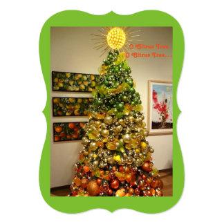 Tarjeta de Navidad de la foto del árbol de fruta