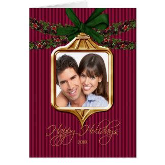 Tarjeta de Navidad de la foto del marco del orname