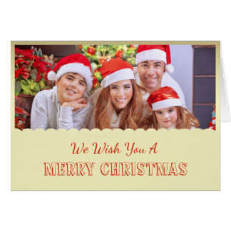Tarjeta de Navidad de la foto del oro