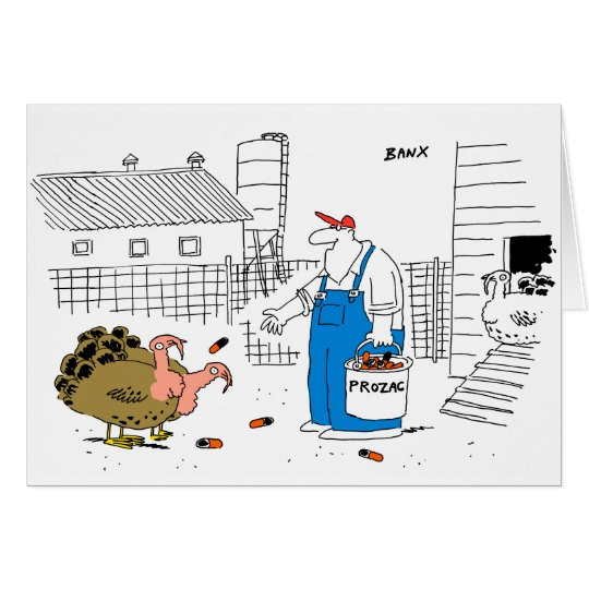 Tarjeta de Navidad de la granja de Turquía