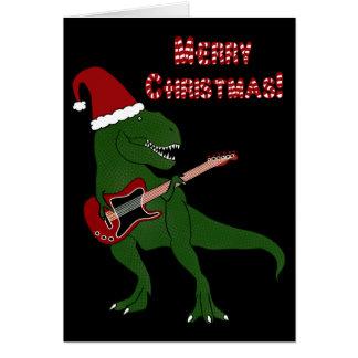 Tarjeta de Navidad de la guitarra de T-Rex