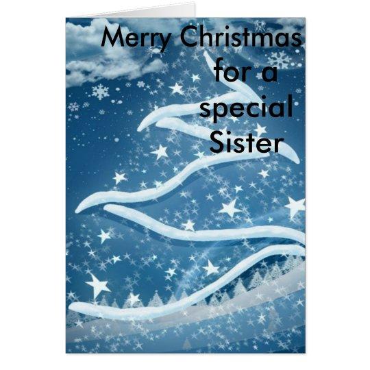 Tarjeta de Navidad de la hermana