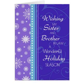 Tarjeta de Navidad de la hermana y del cuñado