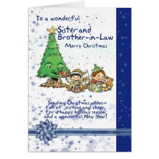 Tarjeta de Navidad de la hermana y del cuñado con